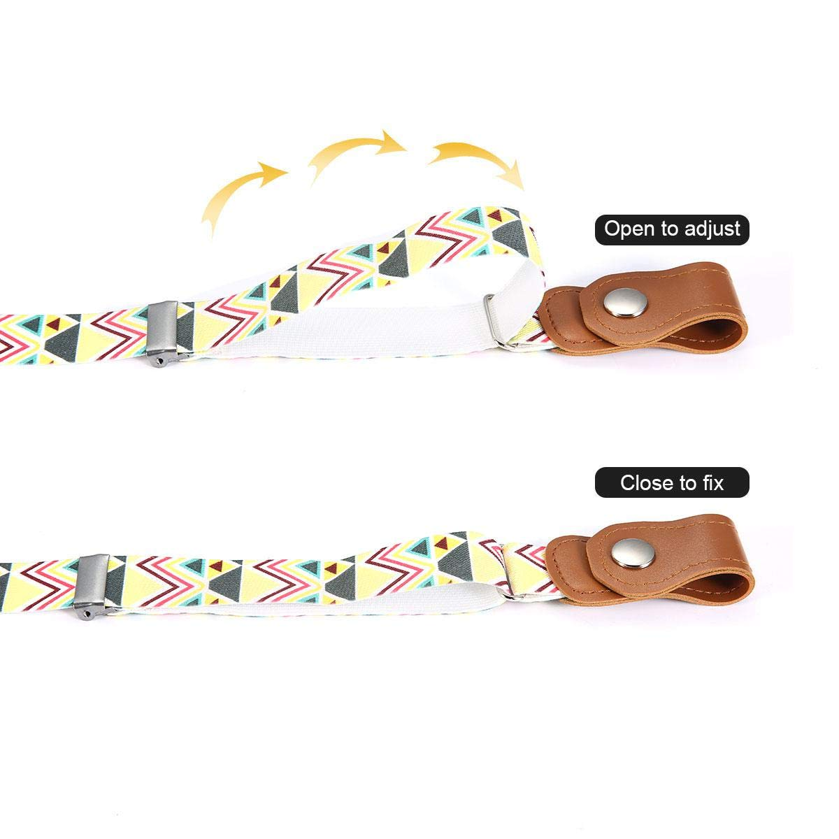 Womdee Kids Elastic Free Belts Perfect for Potty Training and School No-Buckle Adjustable Stretch Belts for Boys and Girls B