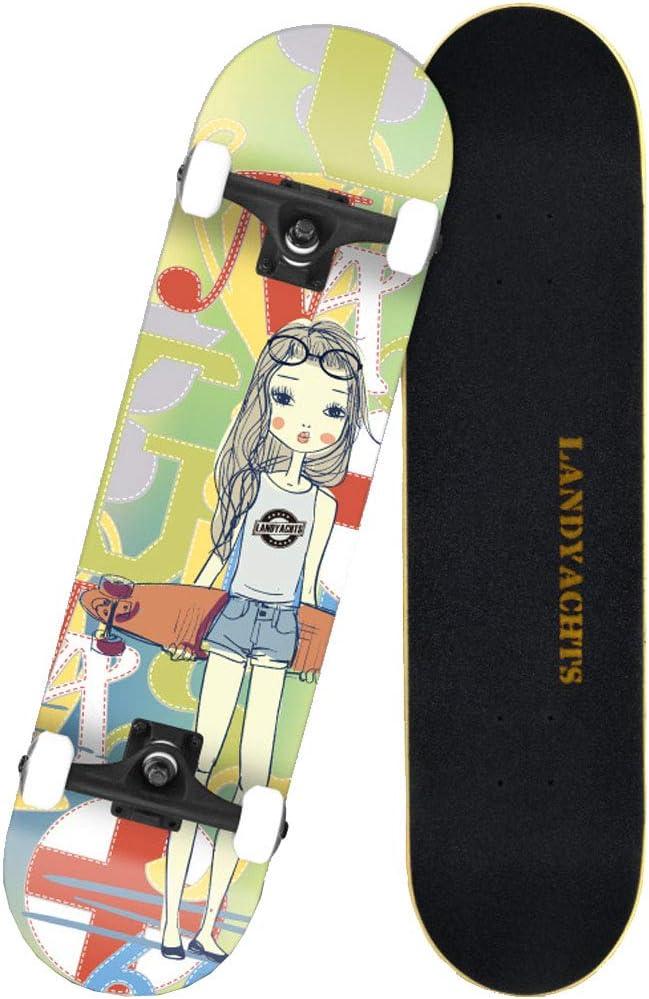 友人の贈り物 31 X 8インチは、7層のメープルウッドクルーザースケートボードデッキを備えた標準的なスケートボードを完了します。 スケートボード