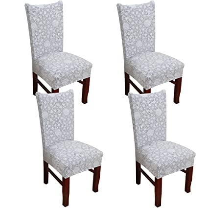 Swell Wanyig Modern Stretch Dining Chair Slipcovers Universal Spandex Dining Room Chair Covers Banquet Chair Seat Protector Removable Washable Chair Pdpeps Interior Chair Design Pdpepsorg