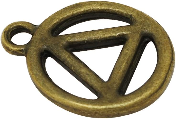 Antique Copper Zinc Alloy Metal Filled,Yoga Charms 20PCS 15.519.5mm Recovery Symbol Charm