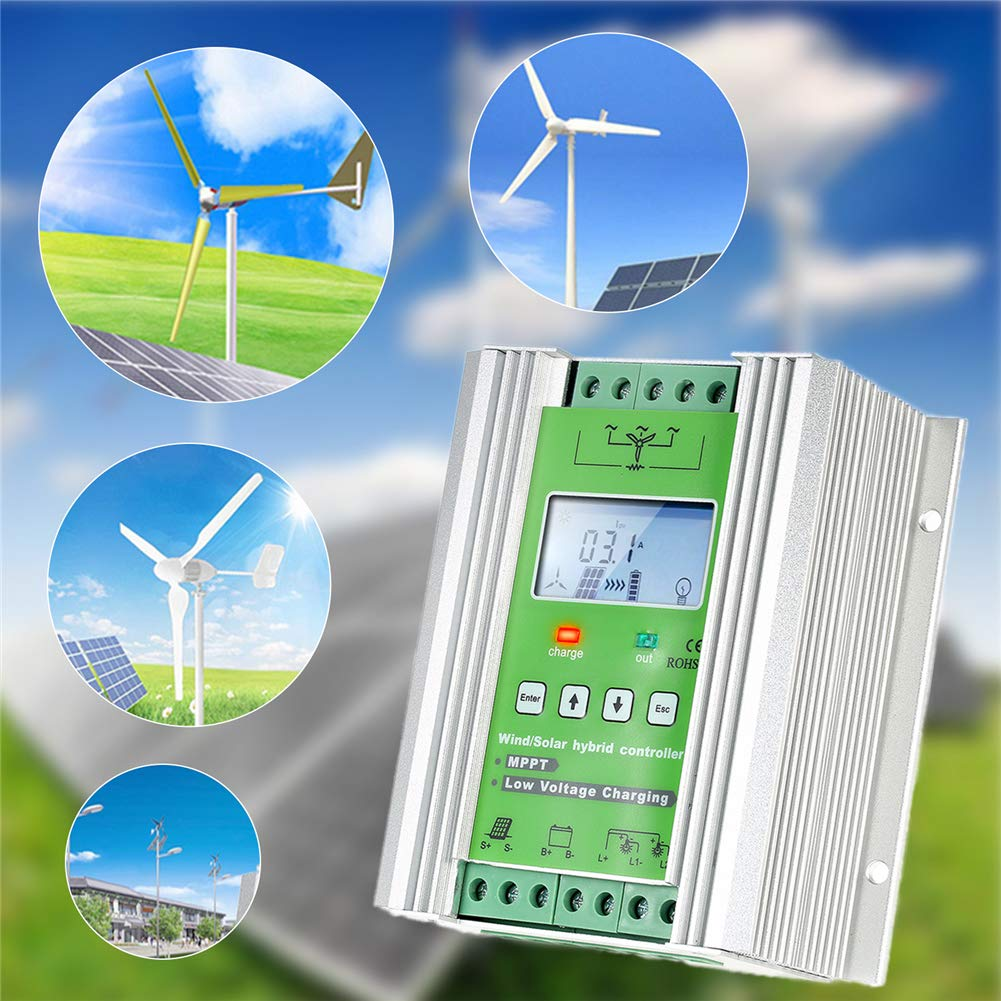 1000W Wind Solar Hybrid Charge Controller ,Off Grid MPPT Wind Turbine Solar Charge Controller Hybrid Controller 600W Wind and 400W Solar Panel 12V/24V Auto Distinguish by anancooler (Image #3)