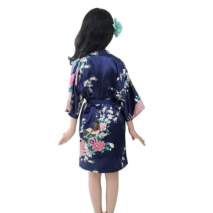 Sayla Ropa Bebe NiñA NiñO Invierno Camisetas Conjuntos Moda NiñO Bebé NiñO NiñAs Floral Seda SatéN Kimono Batas Albornoz Ropa De Dormir: Amazon.es: Ropa y ...