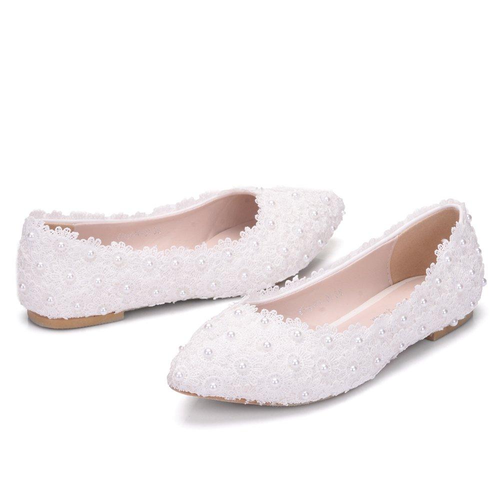 Qingchunhuangtang@ Spitzen Schuhe Kleid Schuhe Schuhe Schuhe Spitzen Braut Hochzeit Schuhe Weiß c32c29