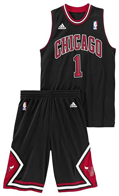 Conjunto Basketball Adidas NBA Mini-Kit Chicago Bulls Derrick Rose nº1 Para Niño / Adolescente