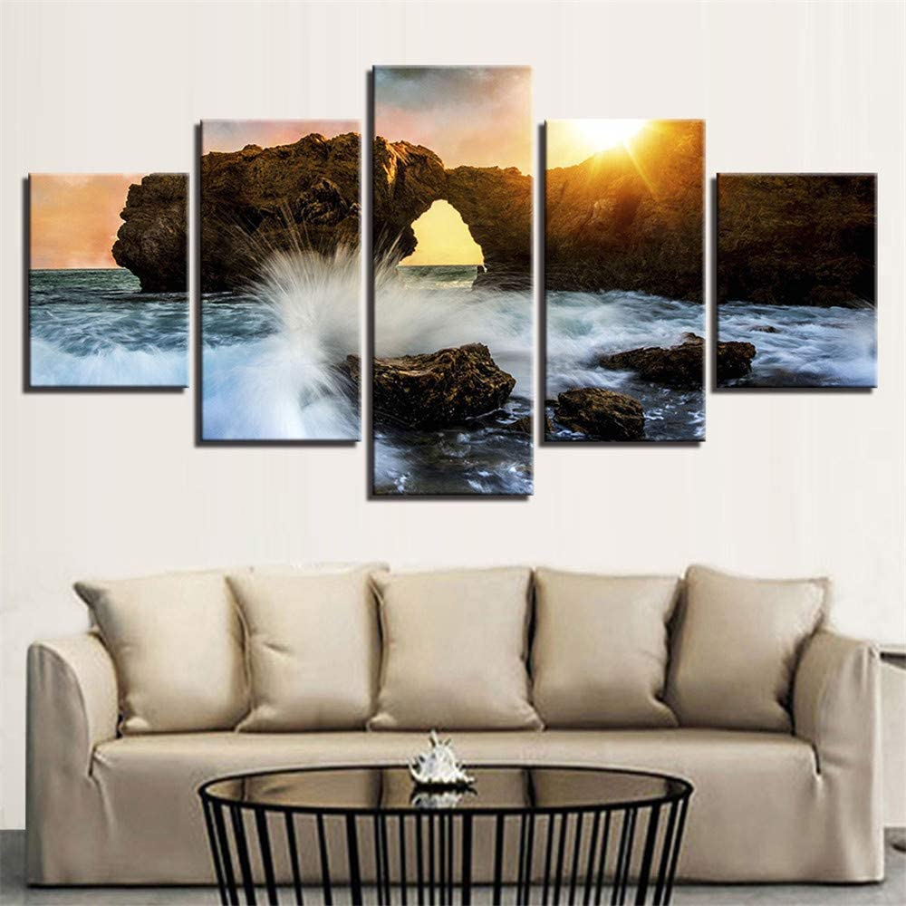 Pintura Decorativa, Combinación de inyección de Tinta Playa de ...