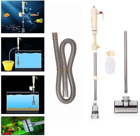 Un acuario de agua bomba eléctrica cambia de grava de acuario ...