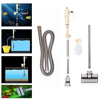 Un acuario de agua bomba eléctrica cambia de grava de acuario limpiadores de limpieza del limpiador del dispositivo de intercambio de agua para acuarios ...