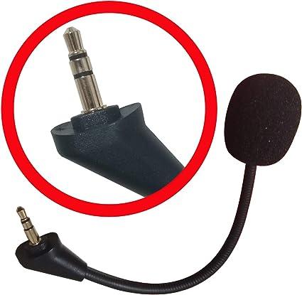 Micrófono de repuesto Boom Mic 3,5 mm compatible con auriculares ...