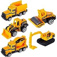 T.H. Conjunto de Cinco Mini Camiones de construcción