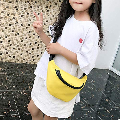 Fashion Children's Bag Waist Bag Chest Bag,Outsta Coin Purse Snack Pack Zipper Fanny Classic Daypack Travel (Yellow) by Outsta Bags (Image #3)