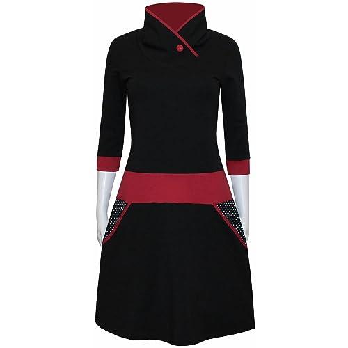 7a2fe0643e5d ungiko Kleid Ela mit Taschen in vielen Farben  Amazon.de  Handmade