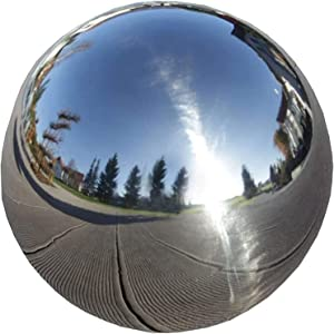 Stainless Steel Gazing Globe 12 Inch Durable Stainless Steel Gazing Ball Gazing Globe Mirror Ball Garden Sphere Metal Outdoor Mirrors Gazing Balls For Gardens On Clearance Home Ornament Decorations