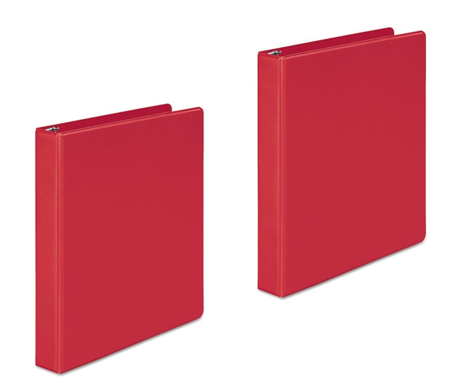 View Front Binders 1 inch 3 Ring 2 Inside Pockets Presentation Folders (2 Pack))