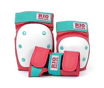 Blau//Pink REKD Erwachsene Heavy Duty Triple Pad Set