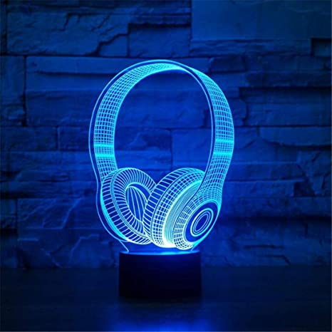 Led Edison de Retro Auricular Light Lamp 3D Dj Forma Araña rxoeCWBd