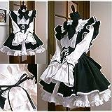 メイド服 カチューシャ 付き 3点セット コスチューム レディース XLサイズ