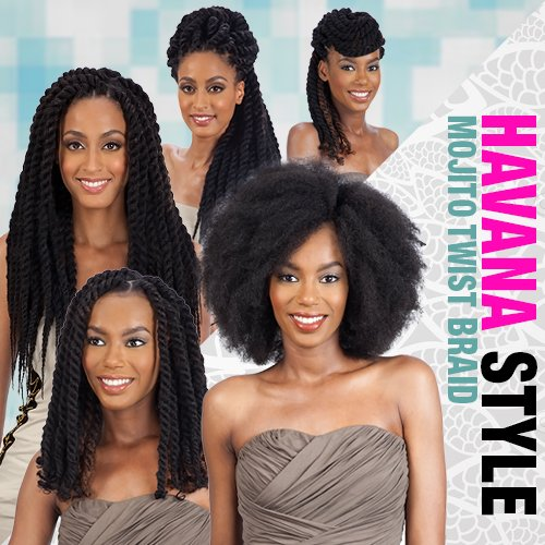 ModelModel Synthetic Hair Braids Double Strand Style (Havana Twist) Mojito Twist Braid [16