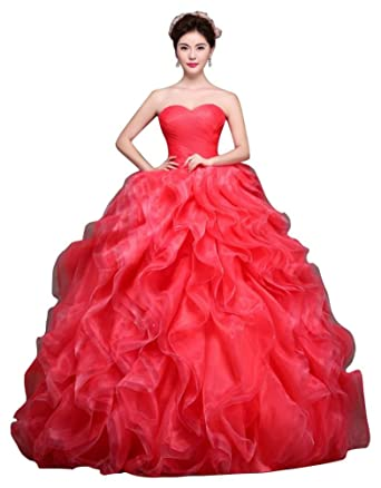Beauty-Emily Tiered Organza Vintage Vestidos 15 Princess Lace Up Floor Length Elegant Formal Evening