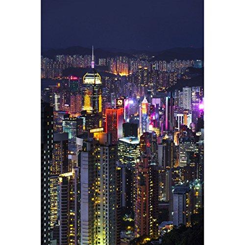 (Hong Kong Print, Hong Kong Skyline by TravLin Photography, Multiple Sizes (5x7 to 24x36))