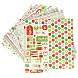 "Doodlebug 5181 Paper Plus Value Supplies (12 Pack), 12"" X 12"", Christmas, Multicolor"