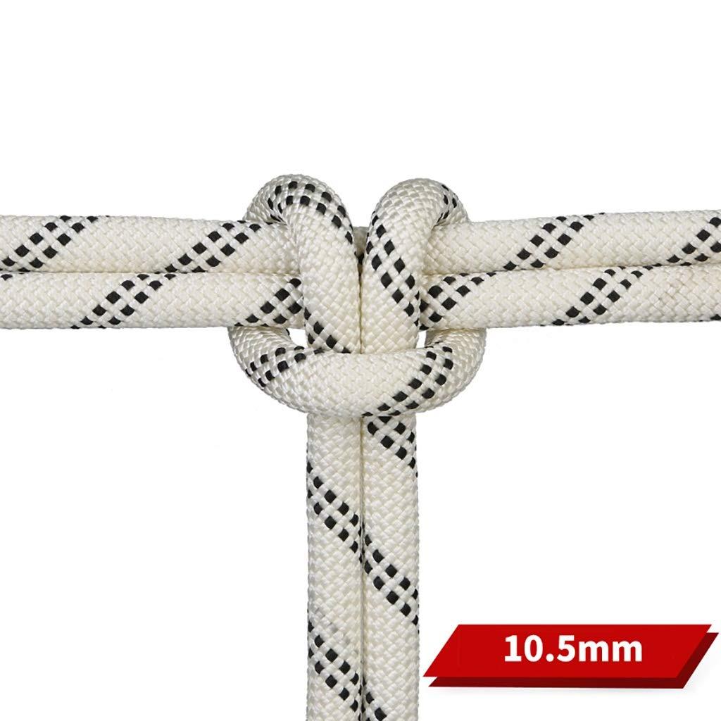 TLMYDD クライミングロープアウトドアクライミングダウンヒルロープ空中作業ライフライン静電ロープ直径10.5 mm白黒 ロープ (サイズ さいず : 80M(265.4FT)) 80M(265.4FT)  B07RM36QZB