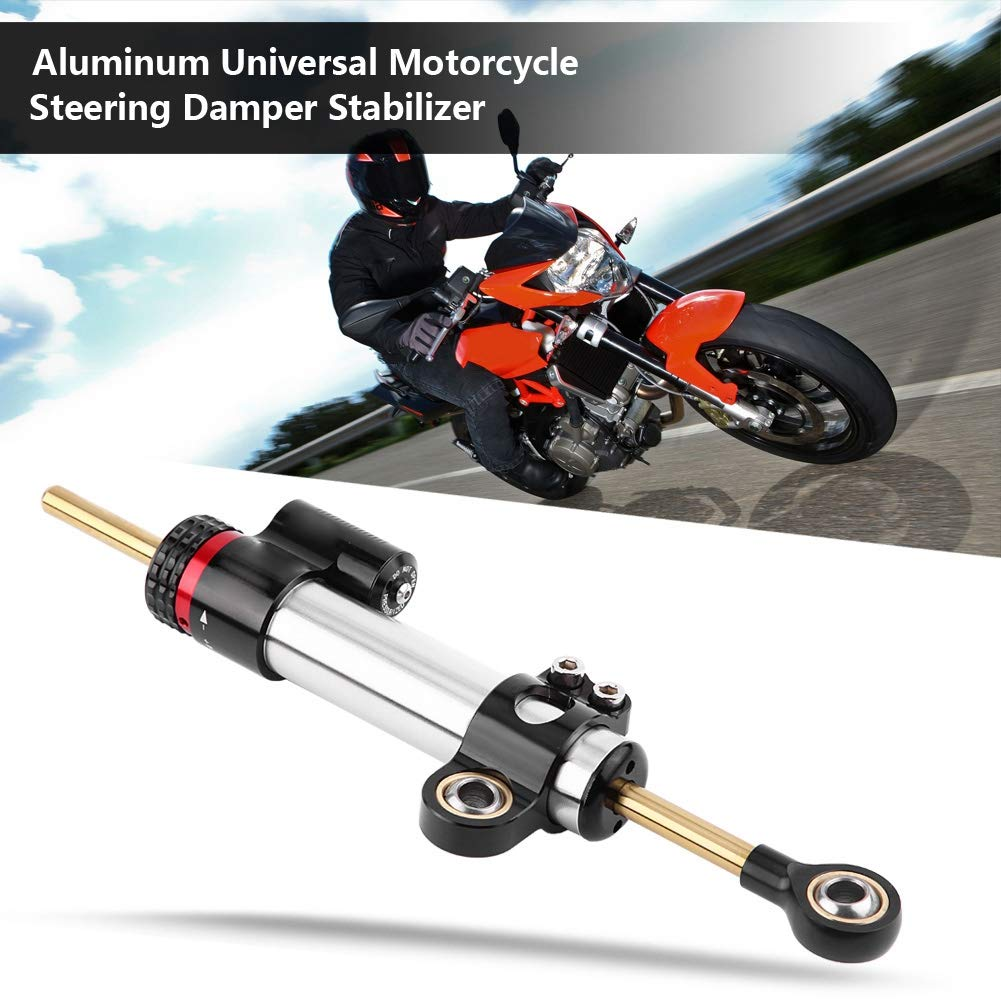 Corto Ammortizzatore Sterzo Universale Stabilizzatore Sterzo del Motociclo Alluminio per MT10 MT 10 MT-10 MT 07 MT-07 MT07 MT09 MT 09 MT-09