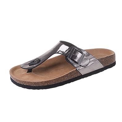 Unisex-Erwachsene Zehentrenner Komfort Sandalen Sandaletten Flip Flops Schwarz 1 EU 35 /Label 35 OA5voM8BW