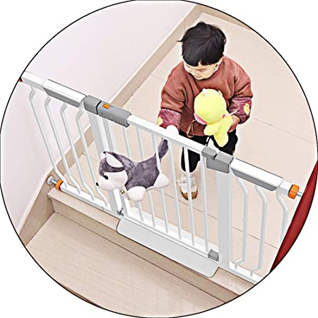 XJJUN-Barrera de seguridad Pared Protectora Ensanchamiento Puerta De Aislamiento Escalera Instalación Sin Perforaciones Puerta for Mascotas Doble Cerradura Metal, El Tamaño Puede Ser Personalizado: Amazon.es: Hogar