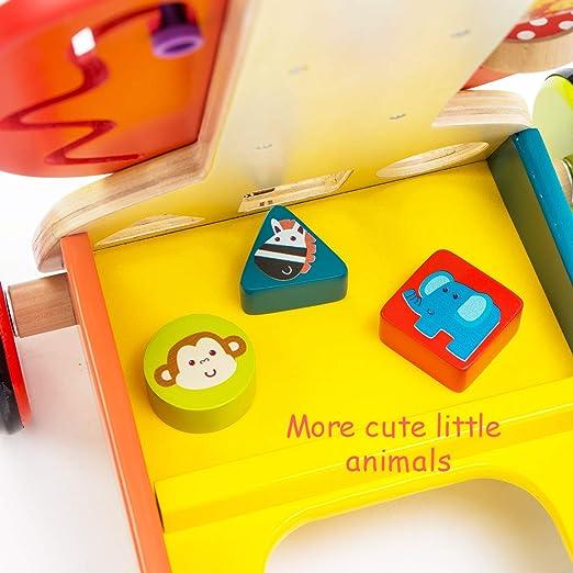 Amazon.com: Push and Play - Juguete de aprendizaje de madera ...
