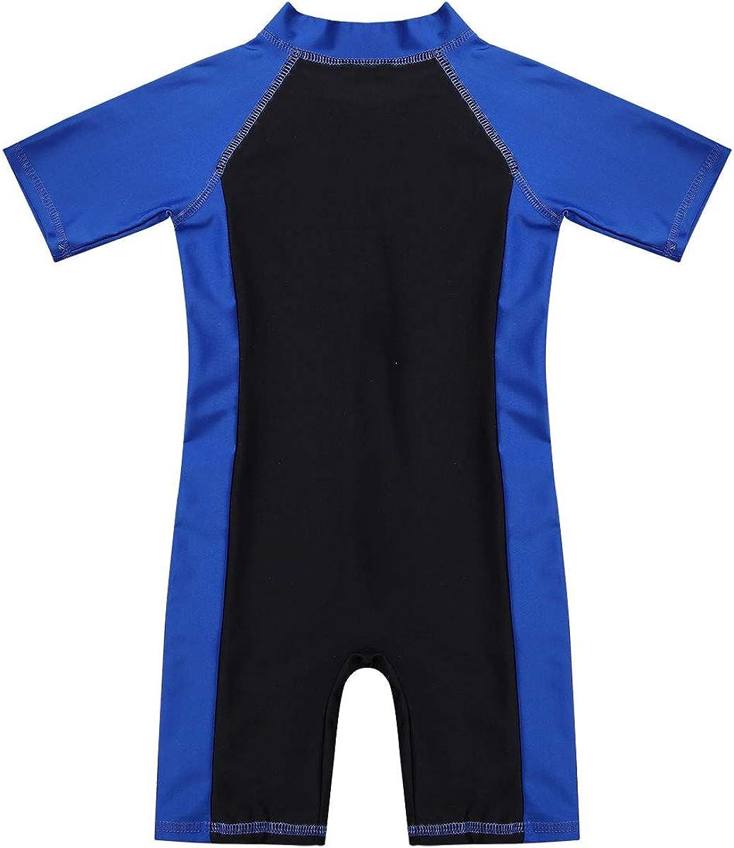 Aislor Kids Boys Quick Dry Diving Suit One Piece Wetsuit Short Sleeves Rash Guard Swimwear Sunsuit