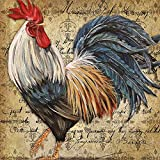 """Rooster Big Roosters Pillow Case 18""""x18"""" inch One Side Zippered Pillow Cover Cases"""