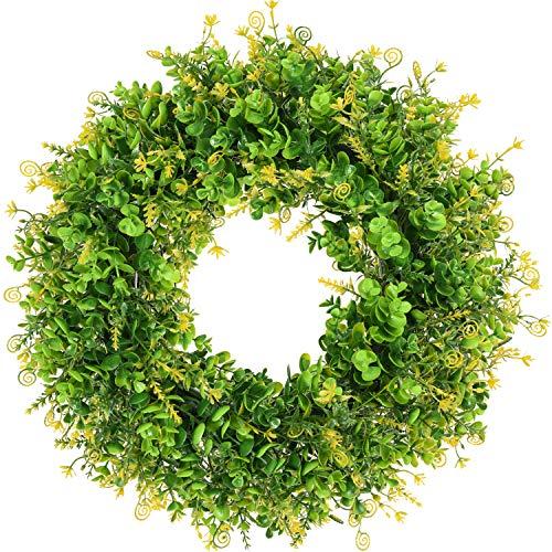 Artiflr Artificial Green Wreath - 18