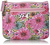 Buxton Womens Spring in Bloom RFID Pik-Me-Up Large I.D. Coin/Card Case, Metallic Pink