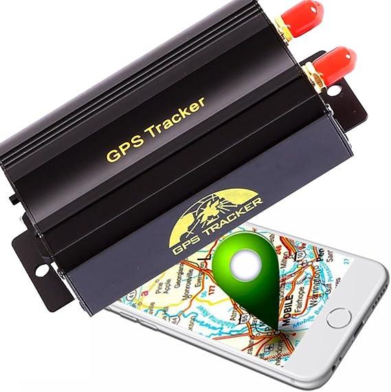 Afterpartz Ovo-103A - Localizador GPS profesional, para coche, motocicleta, antirrobo, para vigilancia, GSM, GPRS, Google, rastreador, envía mensaje de texto, con aplicación móvil