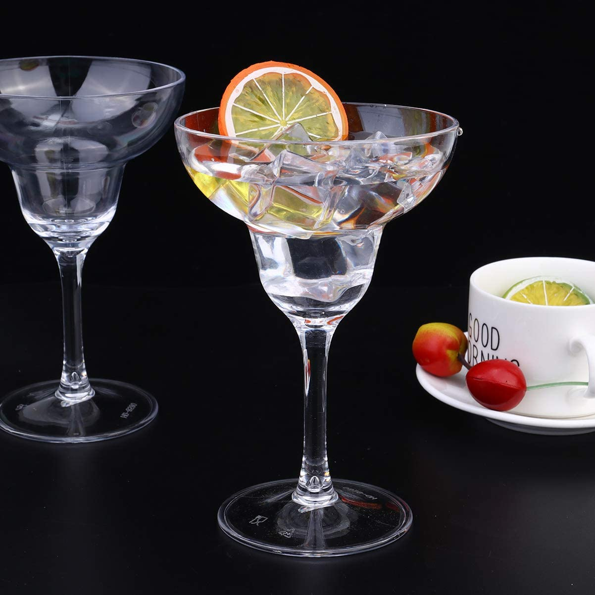 24OML Transparent STOBOK 4pcs Acrylic Martini Cocktail Glass Unbreakable Martini Cup for Home Bar Restaurant