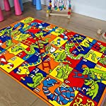 Kids / Baby Room / Daycare / Classroom / Playroom Area Rug. Animals. Numbers. Ladders. Crocs. Snakes. Fun. Educational. Non-Slip Gel Back. Bright Colorful Vibrant Colors