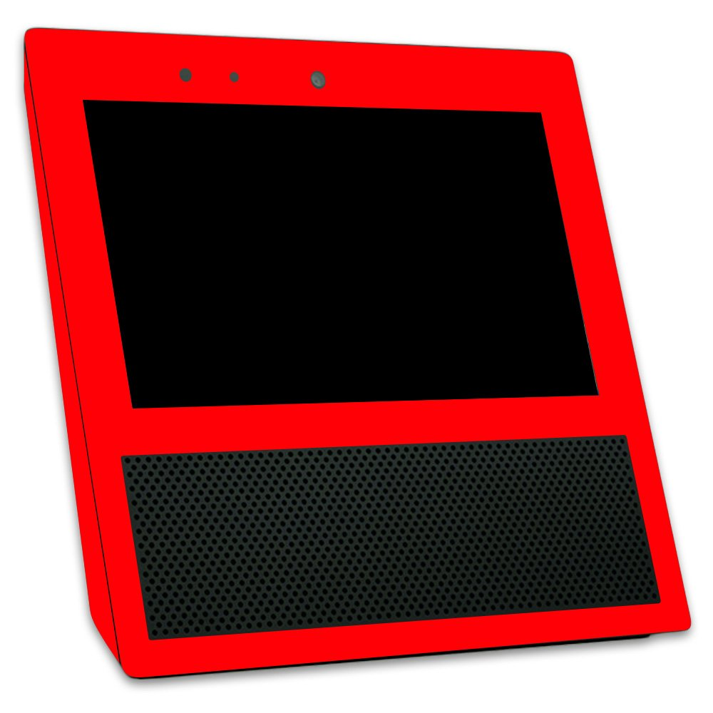 MightySkins Skin for Amazon Echo Show - Solid Red | Protective, Durable, and Unique Vinyl Decal wrap Cover | Easy to Apply, Remove, and Change Styles | Made in The USA