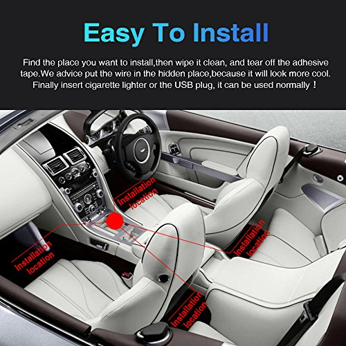 ambother 4pcs car led interior light neon floor atmosphere decorative underdash strip lights kit. Black Bedroom Furniture Sets. Home Design Ideas