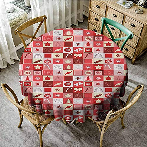 - Rank-T Oilproof/Waterproof Round Tablecloth 35