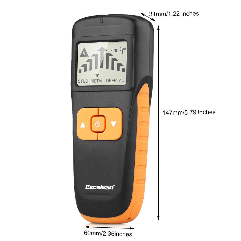 Excelvan aok-6035 3 en 1 multifunción detector Metal/voltaje/madera: Amazon.es: Bricolaje y herramientas