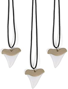 Shark Tooth Necklaces (bulk set of 12)