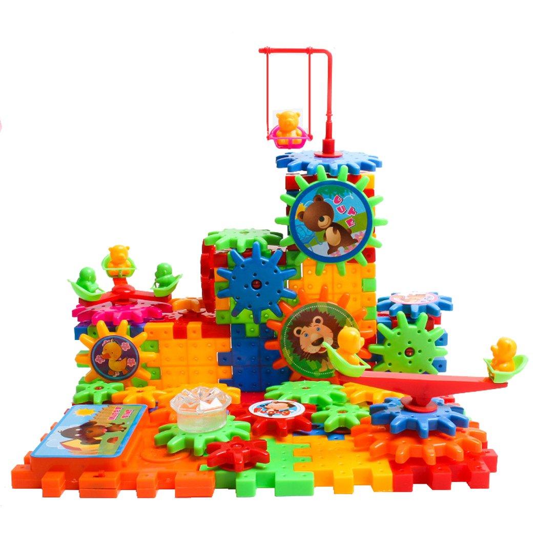 Juego Creativo De Construcción Con Engranajes Construcción de conjunto de juguete Silver_river