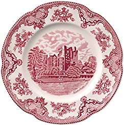 Johnson Brothers Old Britain Castles Pink Dinnerware 10-Inch Dinner Plate Single Piece  sc 1 st  Amazon.com & Amazon.com: Pink - Ceramic / Dinner Plates / Plates: Home u0026 Kitchen