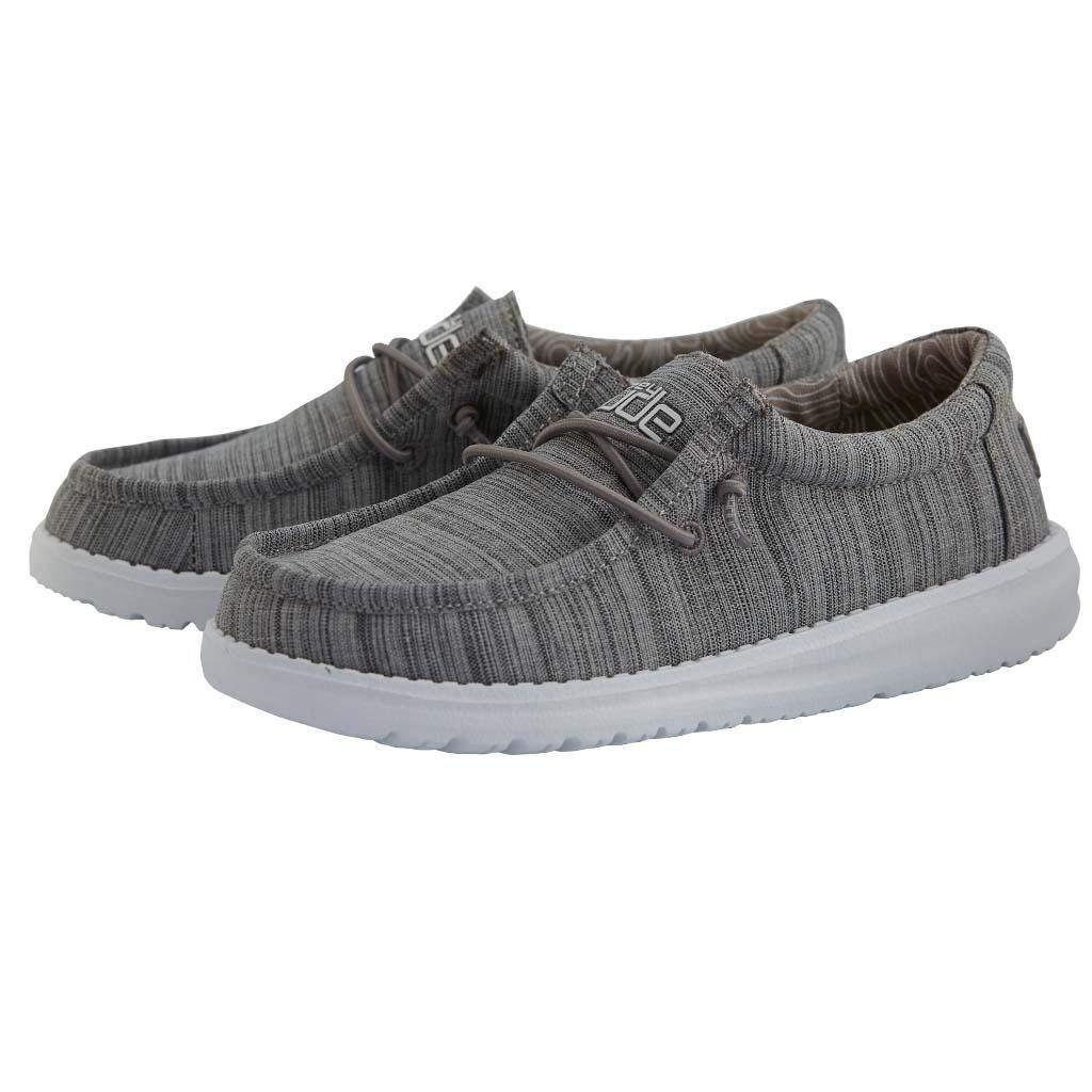 Hey Dude Wally Youth Shoes 11, Stone