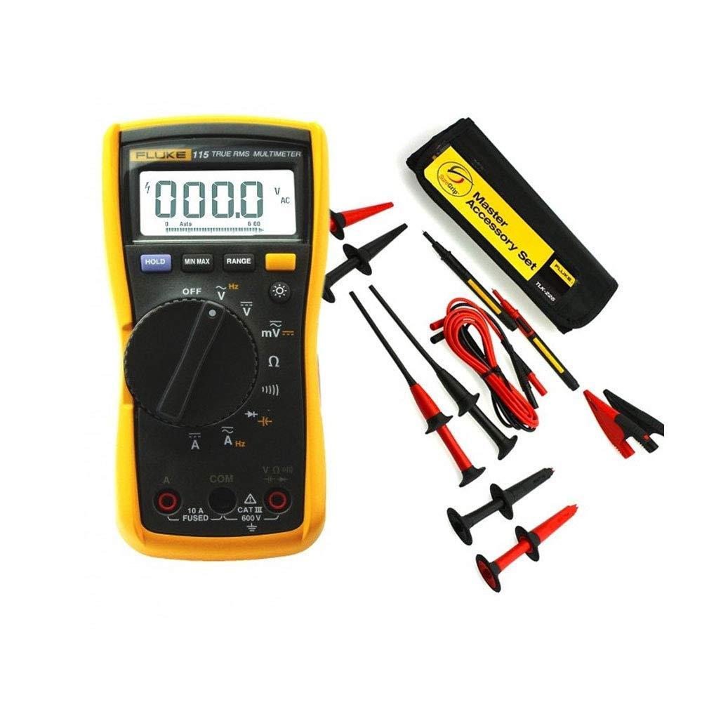 plage: 600,0 mV Multim/ètre num/érique Fluke 115 True-RMS compact pour techniciens de maintenance sur site calibr/é en usine