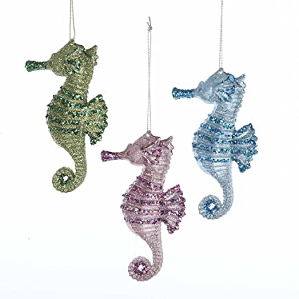 Kurt Adler 4-Inch Plastic Set of 3 Seahorse Ornament Set, 3 Piece - Amazon.com: Kurt Adler 4-Inch Plastic Set Of 3 Seahorse Ornament Set