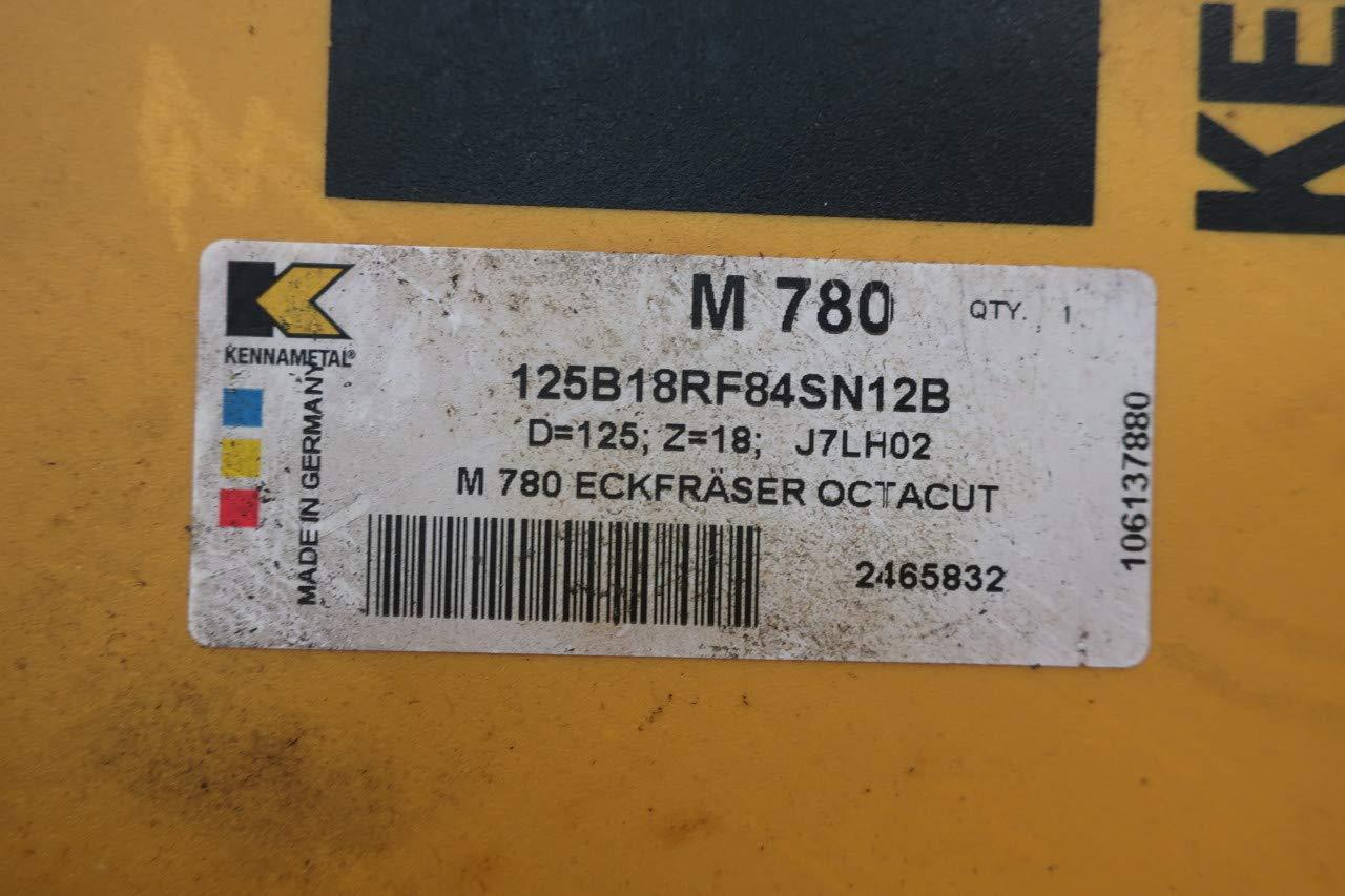 KENNAMETAL M780 125B18RF84SN12B FACE Mill