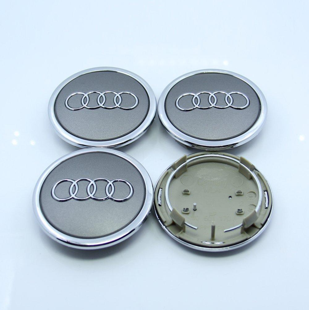 Amazon.com: ZZHF1 Wheel Centre Hub Caps 69mm for Audi Badge Emblem 4B0601170A (4Pcs) (Gray): Automotive