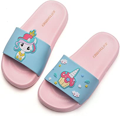 HommyFine Zapatos de Ducha, Playa y Piscina Sandalias de Baño Antideslizantes Sandalias de Unicornio Princesa Celestia para niños y niñas: Amazon.es: Zapatos y complementos