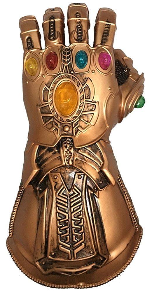 COSBOOM Superhero Glove Left Hand Halloween Infinity Golden Soft PVC Gauntlet
